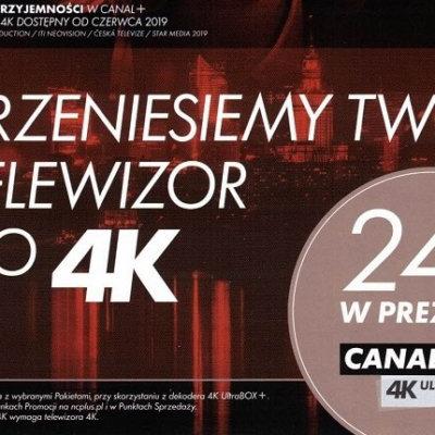PRZENIESIEMY TWÓJ TELEWIZOR DO 4K