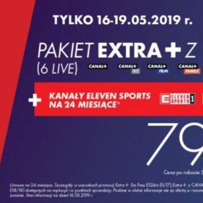 PAKIET EXTRA+ CANAL+ 6 LIVE + ELEVEN SPORTS za 79,99 zł miesięcznie